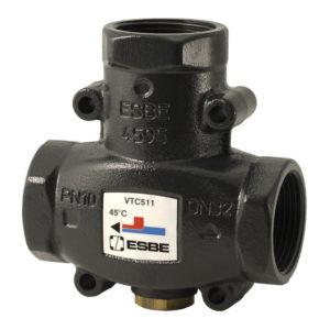 Термостатический смесительный клапан ESBE VTC512 G1 1/2 DN32 (внутр. резьба, t 50°-65°C)