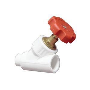 Вентиль полипропиленовый угловой  PN 25 бар  д. 32 (90°)