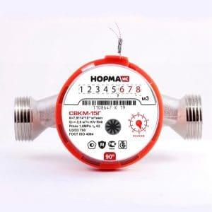 Счетчик горячей воды НОРМА СВКМ20Г антимагнитный Ду20 L=130
